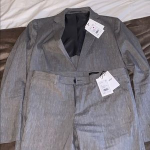 Theory linen suit slim fit brand new
